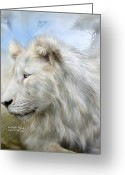 Animal Art Giclee Mixed Media Greeting Cards - Serengeti Spirit Greeting Card by Carol Cavalaris