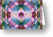 Sacred Geometry Greeting Cards - Serenity Greeting Card by Bell And Todd
