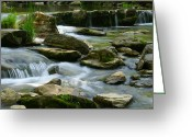 Water Framed Prints Posters Greeting Cards - Serenity  Greeting Card by Christopher  Ward