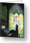 Nun Greeting Cards - Serenity  Greeting Card by Donna Tucker