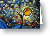 Bold Greeting Cards - Serenity Falls by MADART Greeting Card by Megan Duncanson
