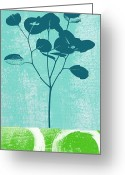 Grass Greeting Cards - Serenity Greeting Card by Linda Woods