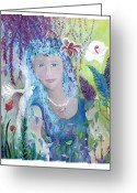 Storybook Greeting Cards - Serenity Greeting Card by Marlene Robbins
