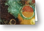 Biblical Mixed Media Greeting Cards - Serenity Prayer Greeting Card by Michel  Keck