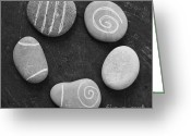 Office Art Greeting Cards - Serenity Stones Greeting Card by Linda Woods