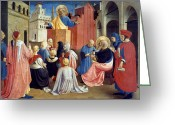 Angelico Greeting Cards - Sermon Of St Peter Greeting Card by Granger