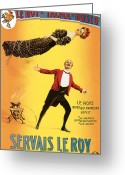 Magic Trick Greeting Cards - Servais Le Roy Greeting Card by Unknown