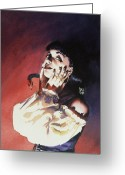 Vampire Painting Greeting Cards - Set Greeting Card by Ken Meyer jr