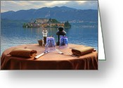 Monastery Greeting Cards - Set Table With A View Greeting Card by Joana Kruse