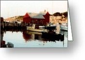 Rockport Ma Greeting Cards - Setting Sun Greeting Card by Paul Sachtleben