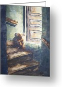 Bears Painting Greeting Cards - Seul Dans La Lumiere   Alone In The Light Greeting Card by Dominique Serusier
