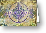 Ptolemaic Greeting Cards - Seven Balanced Greeting Card by Angelina Vick