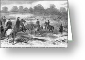 Peninsular Greeting Cards - Seven Days Battles, 1862 Greeting Card by Granger