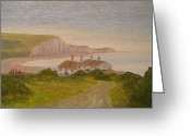 Tiled Roof Greeting Cards - Seven Sisters Greeting Card by Pib