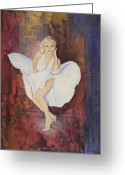 Starlet Greeting Cards - Seven Year Itch Greeting Card by Stapler-Kozek