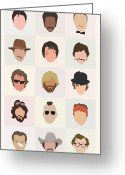 Deer Greeting Cards - Seventies Movie Dudes Greeting Card by Mitch Frey