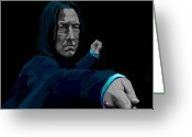 Deathly Greeting Cards - Severus Greeting Card by Lisa Leeman