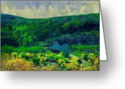 Sewickley . Greeting Cards - Sewickley Valley Greeting Card by Chris Reed