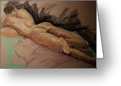 Emotion Pastels Greeting Cards - Sexy Greeting Card by Joy DiNardo Bradley         DiNardo Designs                     
