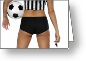 Shorts Greeting Cards - Sexy Referee Greeting Card by Oleksiy Maksymenko