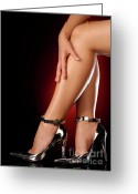 Sexiness Greeting Cards - Sexy Shoes Greeting Card by Oleksiy Maksymenko