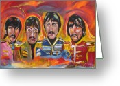 Ringo Starr Greeting Cards - Sgt Pepper Greeting Card by Colin O neill
