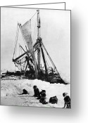 Antarctica Greeting Cards - Shackletons Endurance Greeting Card by Granger