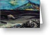 Antarctica Tapestries - Textiles Greeting Cards - Shackletons Hut Antarctica Greeting Card by Carolyn Doe
