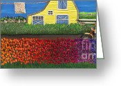 Field Sculpture Greeting Cards - Shades of All Greeting Card by Anne Klar