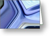 Pixel Bending Greeting Cards - Shades of Blue Greeting Card by Greg Reed Brown