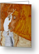 Paul Mccartney Greeting Cards - Shades of Paul Greeting Card by Stephanie Ward