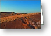 Sand Dunes Greeting Cards - Shades of Sand Greeting Card by Corinne Rhode