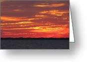 Calm Framed Prints Prints Greeting Cards - Shades Of The Evening Greeting Card by Michael Anthony