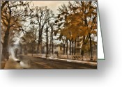 Van Dyke Greeting Cards - Shades of Umber Greeting Card by Marcie Adams Eastmans Studio Photography