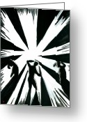 Darken Greeting Cards - Shadow and Light Greeting Card by Jason  Donaire