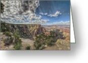 Grey Clouds Greeting Cards - Shadow And Light Greeting Card by Stephen Campbell