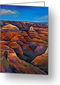 Expressive Greeting Cards - Shadow Canyon Greeting Card by Johnathan Harris