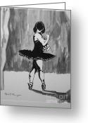 Www.artworkxofmann.com Mixed Media Greeting Cards - Shadow Dancer Greeting Card by Roberto Edmanson-Harrison
