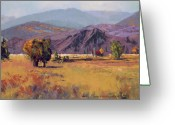 States Pastels Greeting Cards - Shadow Mountain Ranch Greeting Card by Dennis Rhoades