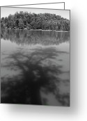 Lakescape Greeting Cards - Shadow on lake Greeting Card by Hitendra Sinkar
