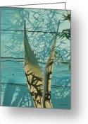 Hyperrealism Greeting Cards - Shadowed Agave Greeting Card by Michael Earney