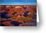 Desert Greeting Cards - Shadows and Breezes Greeting Card by Johnathan Harris