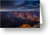 Hopi Greeting Cards - Shadows and Light at the Grand Canyon Greeting Card by Andrew Soundarajan