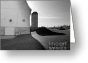Round Barn Greeting Cards - Shadows at Eble Park Greeting Card by Jan Faul