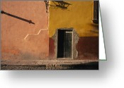 Of Buildings Greeting Cards - Shadows Cast On The Exterior Greeting Card by Gina Martin