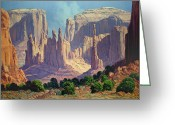 Bloomfield Greeting Cards - Shadows In The Valley Greeting Card by Randy Follis