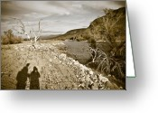 Sun Prints Greeting Cards - Shadows Lurking Greeting Card by Keith Sanders