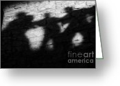 Haunted Greeting Cards - Shadows on the Wall of Edinburgh Castle  Greeting Card by Christine Till