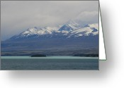 Lake Tekapo Greeting Cards - Shaft of Light Greeting Card by Jan Lawnikanis