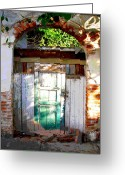 Street Scene Greeting Cards - Shaft of Sunlight by Darian Day Greeting Card by Olden Mexico